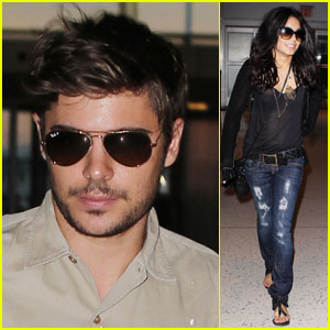 Vanessa Hudgens & Zac Efron: Big Apple Takeoff