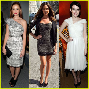 Alexis Bledel: Monique Lhuillier with Odette Yustman!