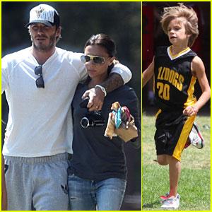 David & Victoria: Beckhams' Basketball Game