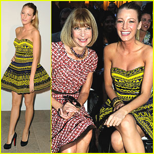 Blake Lively: Front Row at Fashion's Night Out!