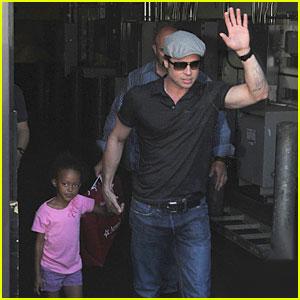 Brad Pitt & Zahara Hit Toni Cornell's Birthday Party