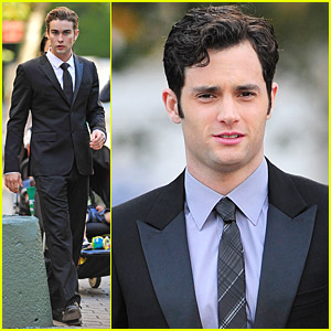 Chace Crawford & Penn Badgley Suit Up Nicely