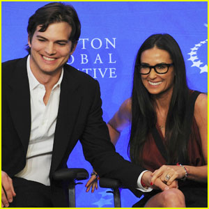 Demi Moore & Ashton Kutcher: Clinton Conference Couple
