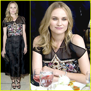 Diane Kruger Has a Lagerfeld Luncheon