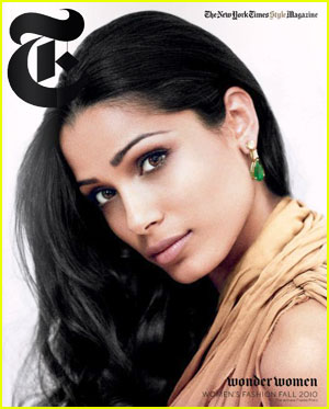 Freida Pinto Covers NY Times Style Magazine