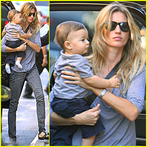 Gisele Bundchen & Baby Benjamin: NYC Fashion Fun