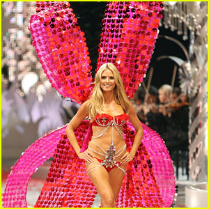 Heidi Klum Clips Victoria's Secret Angel Wings