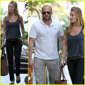 Jason Statham & Rosie Huntington-Whiteley: Four Seasons Smooch