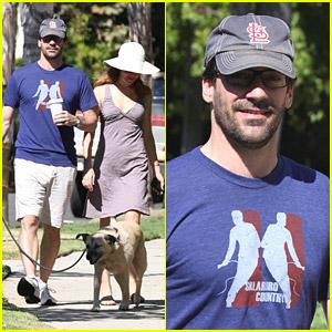 Jon Hamm: Dog Walk with Jennifer Westfeldt!