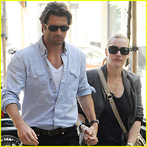Kate Winslet & Louis Dowler Hold Hands