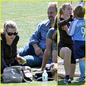 Kate Winslet: Son's Soccer Game with Sam Mendes!