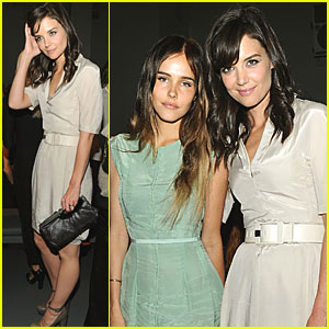 Katie Holmes & Isabel Lucas: Front Row at Calvin Klein!