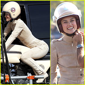 Keira Knightley Mounts Motorcycle for Chanel Commercial