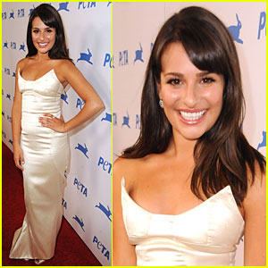 Lea Michele: PETA Awards with Olivia Munn!