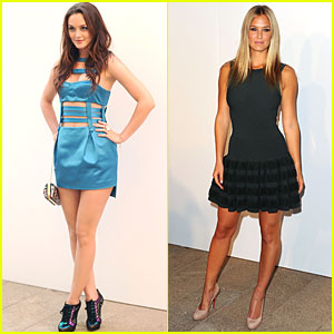 Leighton Meester & Bar Refaeli: It's Fashion's Night Out!