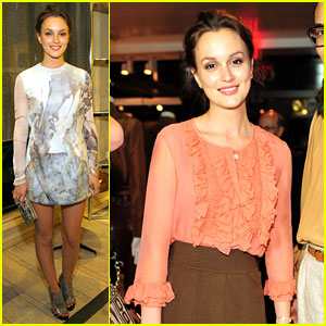 Leighton Meester: Fashion's Night Out Double Duty!