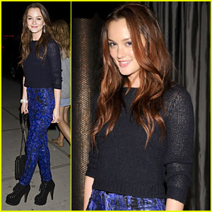 Leighton Meester Hits 'The Romantics' After-Party