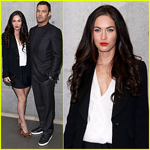 Megan Fox: Armani Fashion Show with Brian Austin Green!