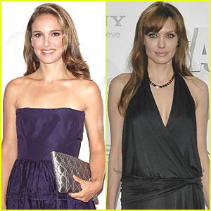 Natalie Portman Pulled by Angelina Jolie's Gravity