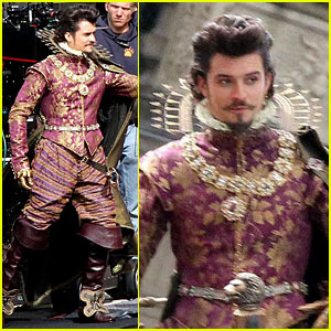 Orlando Bloom: Pompadour For The Three Musketeers!