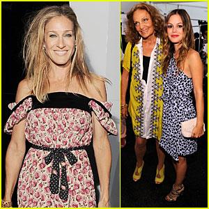 Rachel Bilson: Diane Von Furstenberg with Sarah Jessica Parker!