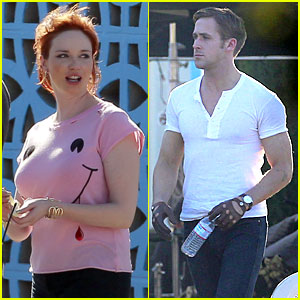 Ryan Gosling & Christina Hendricks Drive Into The Desert