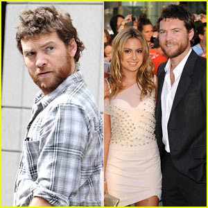 Sam Worthington: 'The Debt' Premiere with Natalie Mark