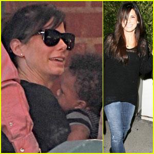 Sandra Bullock: Bonding with Baby Louis!