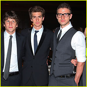 Justin Timberlake & Andrew Garfield: 'Social Network' Premiere!