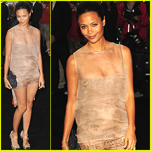 Thandie Newton: Fashion's Night Out at Armani!