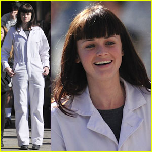 Alexis Bledel: White Jumpsuit Assassin