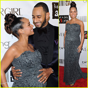 Alicia Keys: Baby Bump at the Black Ball!