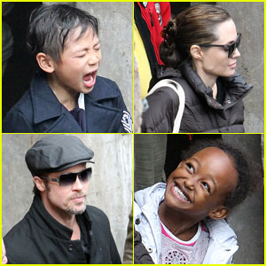 Angelina Jolie & Brad Pitt: Day Out with Pax & Zahara!