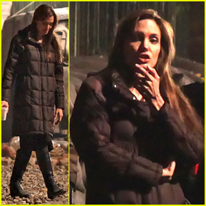 Angelina Jolie: Night Shoot in Budapest