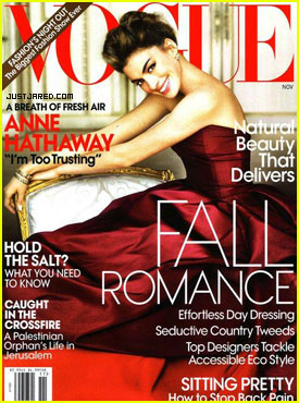 Anne Hathaway Covers 'Vogue' November 2010