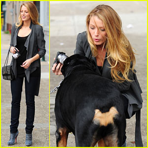 Blake Lively is the Dog Whisperer