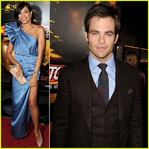 Chris Pine: 'Unstoppable' Premiere with Rosario Dawson!