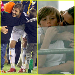 David and Victoria Beckham Embrace Their Children