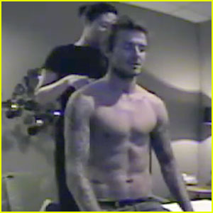 David Beckham: Shirtless Hidden Camera Fun!