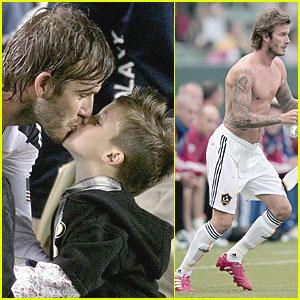 David Beckham & Sons Play Postgame
