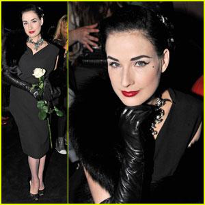 Dita Von Teese: Lanvin Lovely at Paris Fashion Week