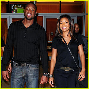 Gabrielle Union & Dwyane Wade: Football Fanatics
