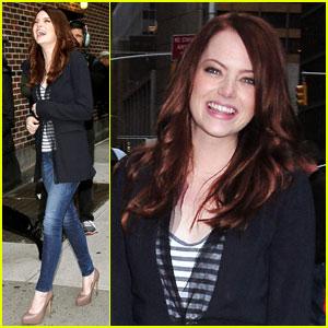 Emma Stone: Laughs Outside of Letterman!
