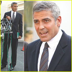 George Clooney: Meeting with Obama at The White House!