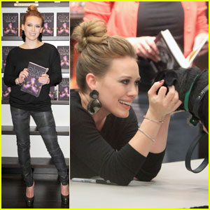 Hilary Duff: Puppy Love at 'Elixir' Book Signing!