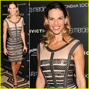 Hilary Swank: 'Conviction' Premiere in NYC