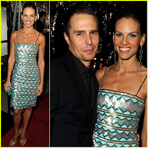 Hilary Swank: 'Conviction' Premiere with Sam Rockwell