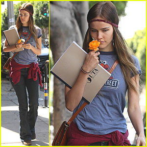 Isabel Lucas Stops and Smells The Roses