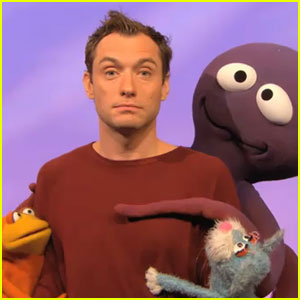 'Sesame Street' Muppets Get Clingy with Jude Law!