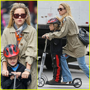 Kate Hudson: Scooter Riding With Ryder!